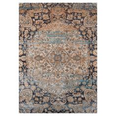 Old world inspirations are fused with modern color combinations and weaving techniques to give life to the Zaria Rug. Distressed motifs are used in large scale to give prominence to this area rug.
