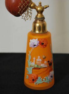 Vintage Exotic Boudoir Perfume Atomizer Bottle
