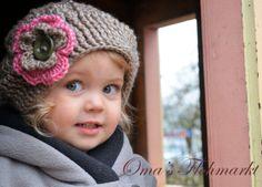 Girls/Toddler  Crochet Flower Shroom  by OmasFlohmarkt on Etsy, $22.00