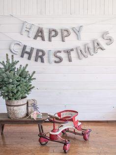 DIY: Upholstered Holiday Banner | HGTV >> http://www.hgtv.com/design/make-and-celebrate/holidays/how-to-make-an-upholstered-holiday-banner?soc=pinterest