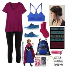 Anna by disneyfashioneveryday on Polyvore featuring polyvore fashion style prAna Pepper & Mayne adidas Johnstons of Elgin Moncler Casetify Monsoon Disney clothing