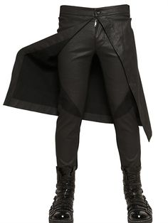 Gareth Pugh - Panelled Waxed Denim Jeans