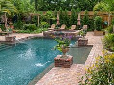 Flowers and Fountains #landscapearchitecture http://www.josephrichardsondesign.com/