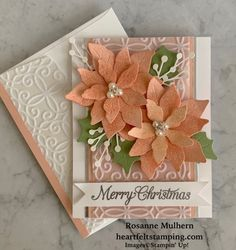 Poinsettia Cards, Christmas Poinsettia, Stampin Up Christmas, Christmas Cards To Make, Xmas Cards, Handmade Christmas, Holiday Cards, Christmas Crafts, My First Christmas