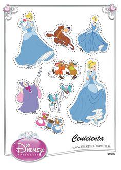 Cinderella Cut Outs Cinderella Crafts, Disney Princess Crafts, Cinderella Cartoon, Cinderella Birthday, Disney Princess Cinderella, Barbie Birthday, Disney Crafts, Imprimibles Toy Story Gratis, Disney Printables