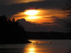 Sunset on Toddy Pond, Orland, Maine