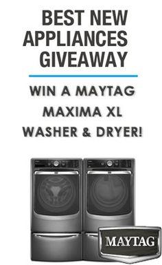 Win a Maytag Maxima XL Laundry Pair
