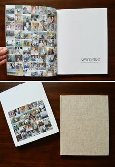 mini book | week in Wyoming photo book by green fingerprint