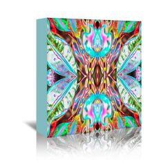Mercury Row Blue Leaves 2 by Rose Anne Graphic Art on Wrapped Canvas Size: