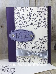 Beautiful Wedding Card I created for my cousin this weekend.  I used the First Sight and Rose Wonder stamp sets from Stampin' Up!  You must see the inside of the card on my blog
