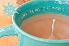 DIY Teacup candles! Cute use for those old half-melted candles!