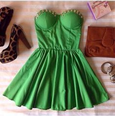 Bustier Dress with Studs by KendraClothing on Etsy