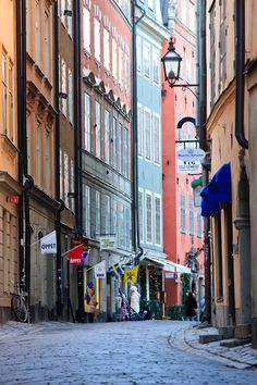 Sweden... Looks like Gamla Stan, Stockholm. One of the most beautiful places on the planet