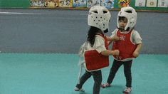 These two girls had the cutest taekwondo match ever. #me