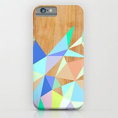 Wooden geometric-print case ($35)