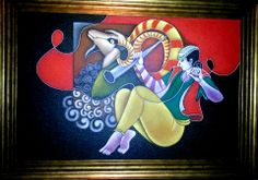 Rare Thoughts Art Gallery Lord Krishna acrylic painting