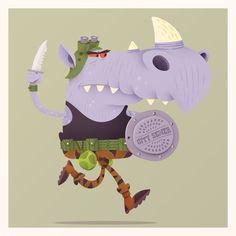 An Illustration-a-Day Blog, rocksteady by Matt Kaufenberg