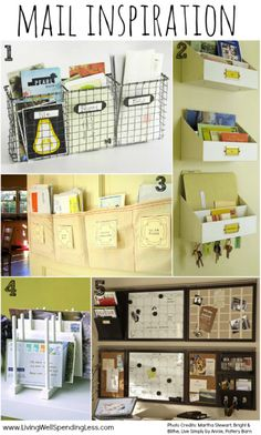 Declutter your mail. Some great ideas. Part of a 31 day challenge.