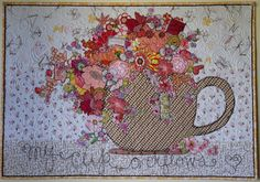 My Cup Overflows Collage ~ Paper Pattern - Marveles Art Studios Pattern Wall, Pattern Paper, Small Quilts, Mini Quilts, Quilting Projects, Sewing Projects, Quilting Ideas, Sewing Ideas, Fabric Postcards