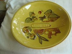 Los Angeles Potteries spaghetti/pasta bowl - gold
