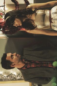 Jake Johnson and Zooey Deschanel as Nick and Jess from New Girl