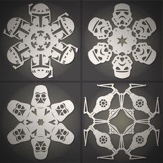 Star Wars snowflake templates
