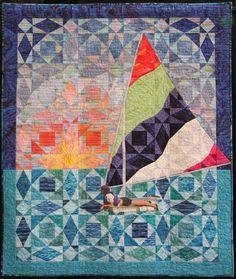 Karen O'Neil, 1Quilts Seaside, Quilts Stormatsea, Storm At Sea Quilt, Sea Quilts, Art Quilts, Quilting Storm, Quilt Storm At Sea