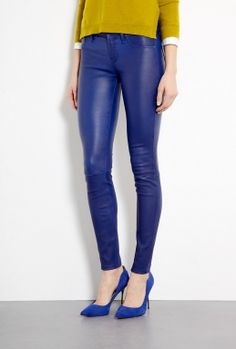Mirah Stretch Leather Trousers by Marc By Marc Jacobs - nice change from black leathers!