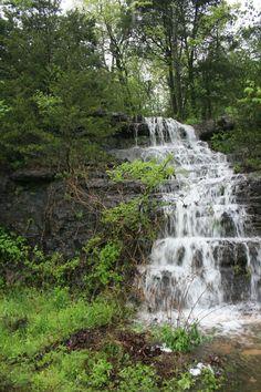 Waterfalls dot Eureka Springs, Arkansas