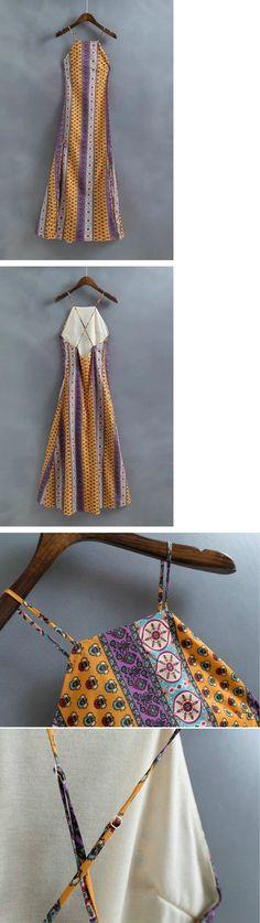 Print Spaghetti Straps Maxi Dress