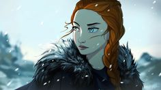 Sansa Stark - Game of Thrones Sansa Stark, Character Inspiration, Character Art, Character Sketches, Hbo Got, Game Of Thrones Instagram, Got Game Of Thrones, Game Of Trones, Fanart
