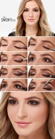 31 Makeup Tutorials for Brown Eyes - Lulus How-To: The Smoky Eye Makeup Tutorial -Great Step by Step Tutorials and Videos for Beginners and Ideas for Makeup for Brown Eyes -Natural Everyday Looks -Smokey Prom and Wedding Looks -Eyeshadow and Eyeliner Looks for night