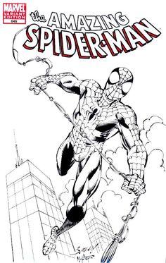 Stan Lee Spiderman, Spiderman Kunst, Comic Books Art, Comic Art, Book Art, Mark Bagley, Image Categories, Comic Character, White Art
