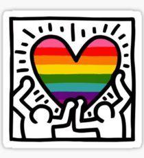 Keith Haring w/ original pride flag Sticker Stickers yayyyy everyone loves stickers 😀Floor Stickers in The BathroomLe cactus – autocollants de peinture de diamant Keith Haring Prints, Keith Haring Poster, Keith Haring Art, Principles Of Art Balance, Balance Art, Graffiti Tattoo, Pop Art, Art Moderne, Art Plastique