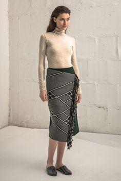 Pencil Wrap Skirt Che