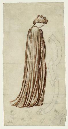 Sir Edward Coley Burne-Jones, Bt, 'Figure of a Queen' 1861