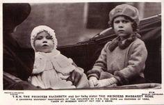 1931 Princesses Elisabeth and Margaret Rose of York Elizabeth Of York, Princess Elizabeth, Princess Margaret, Queen Elizabeth Ii, George Duke, King George, Duchess Of York, Duke And Duchess, Margaret Rose