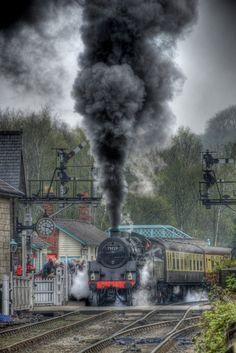 Smoke & Steam ~ Classic Look ~ North Yorkshire Moors Railway by Keith Holt ~ BFD Train Art, By Train, Train Tracks, Train Rides, Locomotive Diesel, Steam Locomotive, Heritage Railway, Tramway, Train Posters