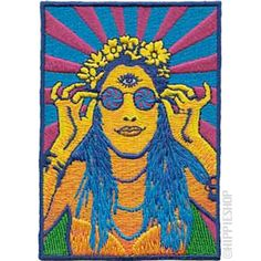 Retro Hippie Chick Patch from The Hippieshop.com <3
