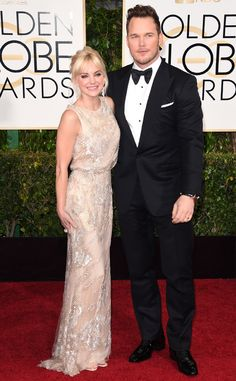 My pick for Best Dressed Couples at the 2015 Golden Globes Awards: Anna Faris & Chris Pratt. | E! Online