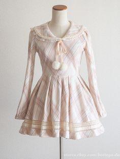 LIZ LISA Winter Sailor-blouse style Pink OP Dress Pompon Lolita Hime gyaru Japan #LIZLISA #PeplumTunic #Party