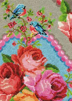 Needlepoint Roses.