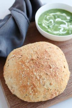 Instant Pot Whole Wheat Crusty Bread is full of seeds and whole grains and the perfect side to a great bowl of soup paleo dinner crockpot Instant Pot Pressure Cooker, Pressure Cooker Recipes, Pressure Cooking, Cooking Bread, Cooking Recipes, Cooking Ham, Yummy Recipes, Crockpot Recipes, Soup Recipes