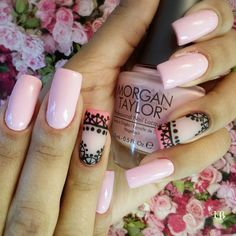 Beautiful Unique and Trendy Nail Designs 2017 Get Nails, Fancy Nails, Love Nails, Pretty Nails, Hair And Nails, Plain Nails, Liquid Nails, Pink Nail Art, Square Nails