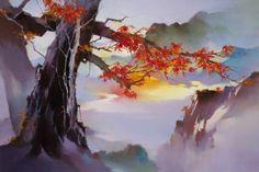 Китайские художники Hong Leung. Красивые пейзажи маслом | Usenkomaxim.ru