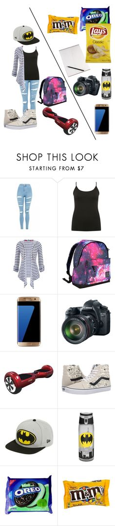 """""""Untitled #203"""" by coconutmoon ❤ liked on Polyvore featuring Topshop, M&Co, maurices, Hot Tuna, Samsung, Eos, Vans and New Era"""