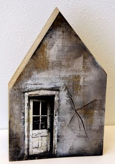Saskia Obdeijn - oak wood print and acrylic Clay Houses, Ceramic Houses, Miniature Houses, Bird Houses, Wooden Houses, New York Loft, Driftwood Art, Little Houses, House In The Woods