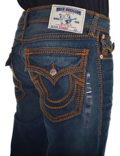 True Religion Mens Jeans Size 38 Straight with Flaps in Devils Post NWT $359 #TrueReligion #ClassicStraightLeg