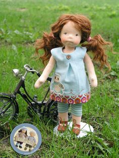Alexandra - natural fiber art doll by Lalinda.pl