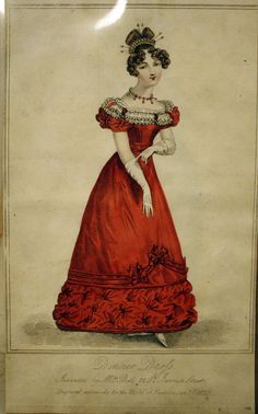 This is what people wore to dinner in 1825. Over the next few years, our sleeves kept getting bigger and puffier!